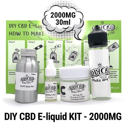 DIY CBD E-Liquid Kit 2000MG buy shop UK