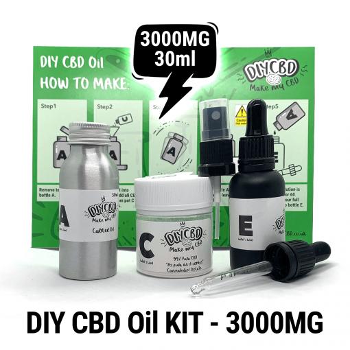 DIY CBD Oil Kit 3000MG buy shop uk