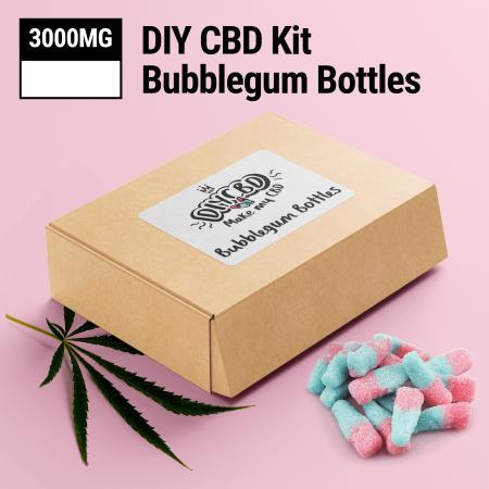 DIY CBD Bubblegum Bottles 3000mg