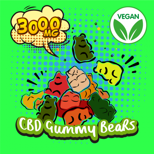 DIY CBD Vegan Gummy Bears 3000MG